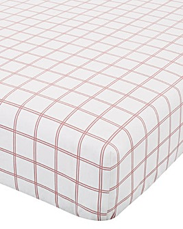 Brushed Cotton Red Tartan Check Fitted Sheet