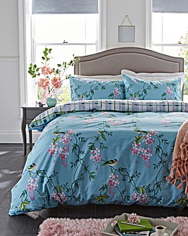 Blue Garden Duvet Cover Set