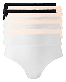 10 Pack Blk/Wht/Blush Bikini Briefs