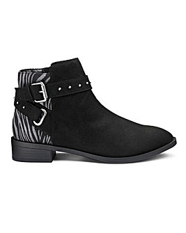 Eira Buckle Detail Boots Wide Fit