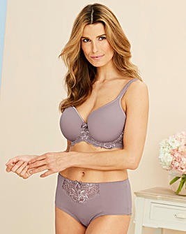 Pretty Secrets Ella Lace Mocha Luxury Moulded T-Shirt Bra