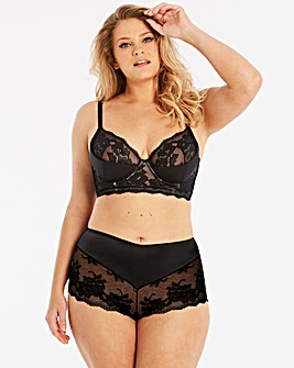 Black Simply Be Savanna Midi Satin Bra