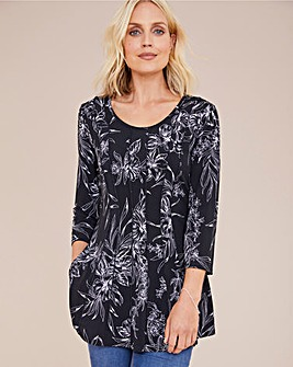 Julipa Stretch Seamed Detail Tunic