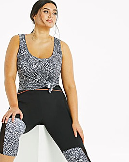 Active Print Drape Side Vest
