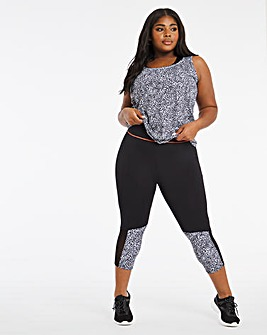 Active Performance Print Capri