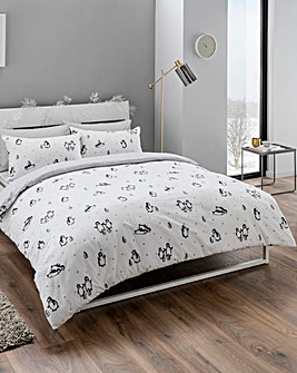 Cute Penguins Brushed Cotton Duvet Set