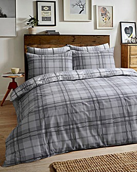 Tartan Check Brushed Cotton Duvet Set