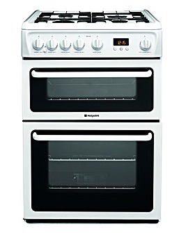 Hotpoint NewStyle HAG60P Gas Double 60cm Cooker White