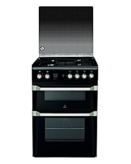 Indesit ID60G2(K)/UK Gas Double Cooker