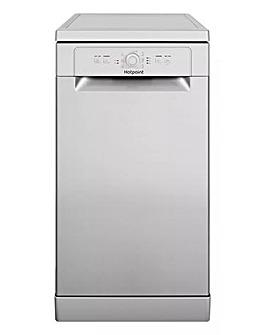 Hotpoint HSFE 1B19 S UK N Freestanding 10-place Slimline Dishwasher - Silver