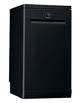 Hotpoint HSFE 1B19 B UK N Freestanding 10-place Slimline Dishwasher - Black