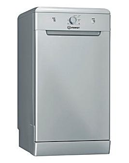 Indesit DSFE 1B10 S UK N Freestanding 10-place Slimline Dishwasher - Silver