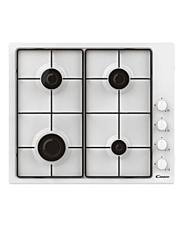 Candy CHW6LWW 60cm Gas Hob 4 Burner