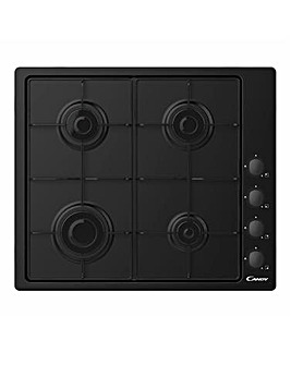 Candy CHW6LBB 60cm Gas Hob 4 Burner