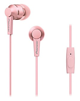 Pioneer In Earphones Pink