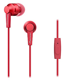 Pioneer In Earphones Red