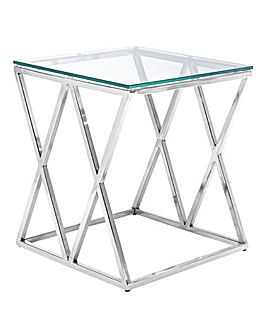 Margot Glass Side Table