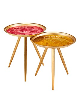 Joe Browns Enamel Nest of Tables
