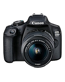 Canon EOS 2000D SLR Black Camera