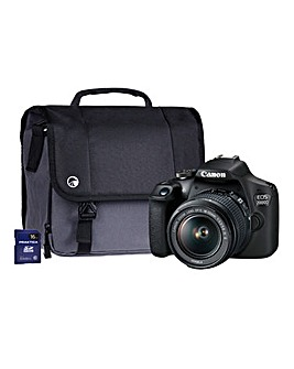 Canon EOS 2000D Black SLR Camera Kit