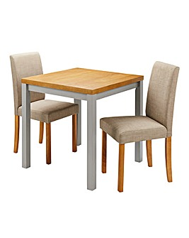 Oakham Two Tone Table 2 FabricChairs