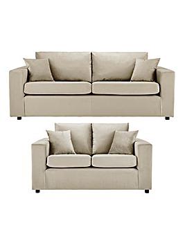 Alicante Velvet 3 Plus 2 Seater Sofa