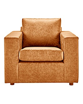 Alicante Worn Faux Leather Arm Chair