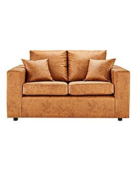 Alicante Worn Faux Leather 2 Seater Sofa