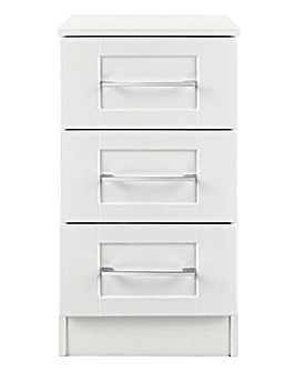 Harrogate Assembled 3 Drawer Bedside