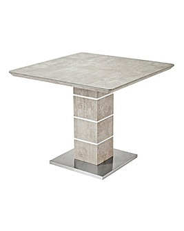 Esme Concrete Effect Square Dining Table