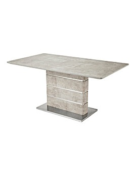 Esme Concrete Effect Rectangular Dining Table