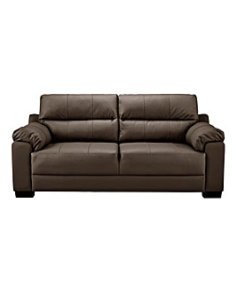 Hugo Leather 3 Seater Sofa