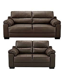 Hugo Leather 3 plus 2 Seater Sofa