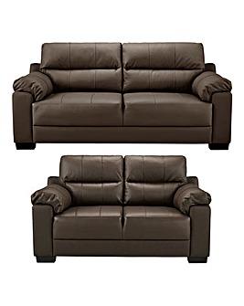 Hugo Leather 3 plus 2 Seater Sofa