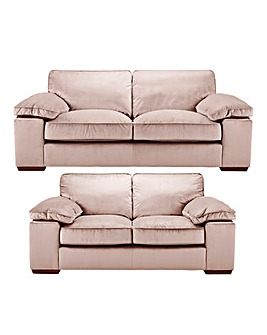 Emilie Velvet 3 plus 2 Seater Sofa