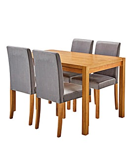Oakham Rectangular Table 4 Mia Chairs