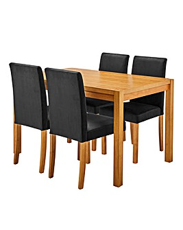 Oakham Rectangular Table 4 Mia Chairs