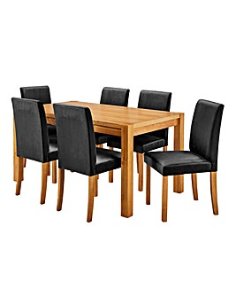 Oakham Table 6 Mia Velvet Chairs
