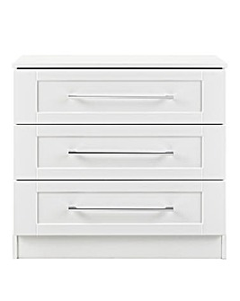 Harrogate Assembled 3 Drawer Chest