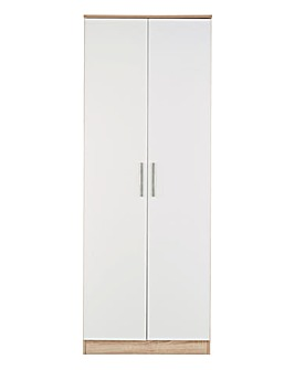 Leo Gloss Assembled 2 Door Wardrobe
