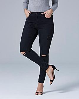Chloe Ripped Knee Skinny Jeans Regular Length