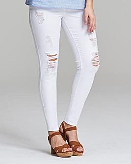 Chloe Distressed Skinny Jeans Short Length