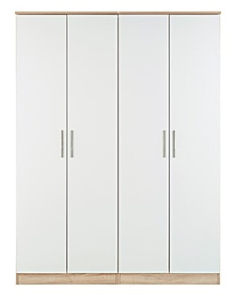 Leo Gloss 4 Door Wardrobe