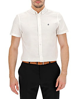 Peter Werth Short Sleeve Oxford Shirt L