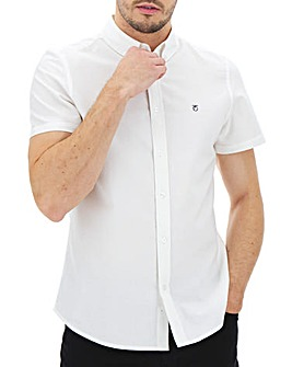 Peter Werth Short Sleeve Oxford Shirt Long