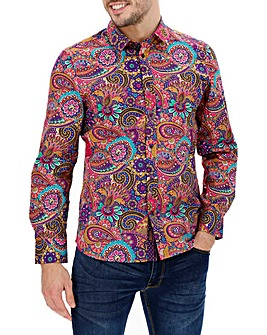 Joe Browns Pink Floral Paisley Shirt L