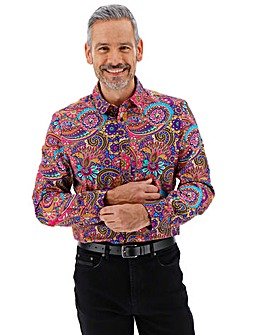 Joe Browns Pink Floral Paisley Shirt