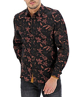 Joe Browns Black Large Paisley Shirt L