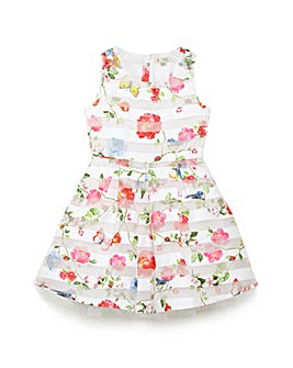 Yumi Girl Organza Floral Party Dress