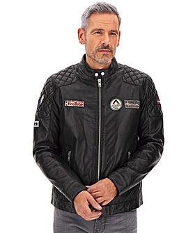 Joe Browns Badged-Up Leather Biker
